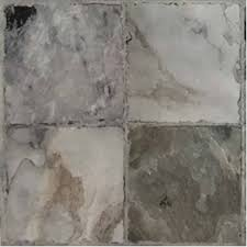 traditions cobblestone grey 12 x12 self stick vinyl tile