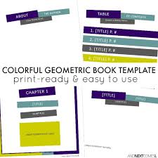colorful geometric square book template and next comes l