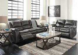 Grey Leather Reclining Sofa Moe Furniture Long Knight Gray Reclining Sofa Loveseat Within