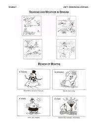 spanish seasons worksheet worksheets