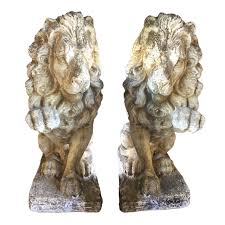 lion statues for sale vintage pair of neoclassical lion garden statues