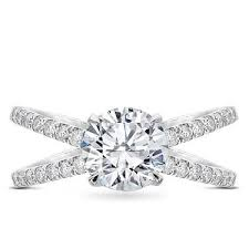 engagement ring setting diamond criss cross engagement ring setting r3095
