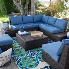 Teal Sofa Set by Belham Living Luciana Bay All Weather Wicker Deep Seating