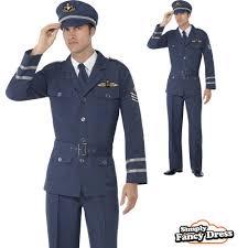 mens 40s ww2 raf army captain navy uniform wartime fancy dress