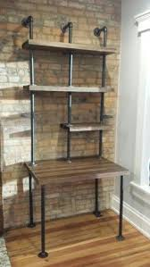computer desk w storage shelves reclaimed wood ny usa lower
