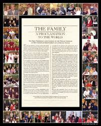 family proclamation family proclamations