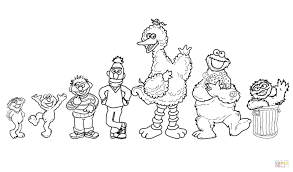 free coloring pages sesame street faces valentine colouring