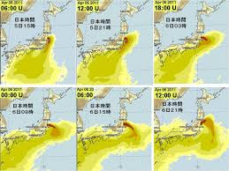 Fukushima Fallout Map by 3 9 April 2011 Fukushima Radiation And Fallout Projections