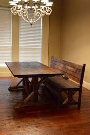 Rustic Dining Room Bench Impressive Dining Room Bench With Back And Furniture Rustic Farm