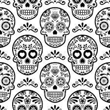 sugar skull seamless pattern skulls