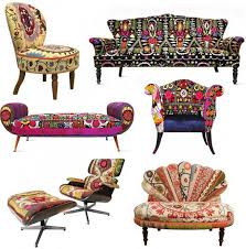 Ethnic Sofas Technicolor Furniture Collection Reuses Textiles Of The Silk Road