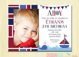 boys nautical birthday invitation first birthday 1st
