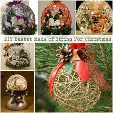 diy basket made of string for diy ideas and crafts