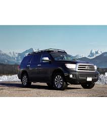 roof rack for toyota sequoia toyota sequoia 2008 2017 stealth rack lightbar setup with