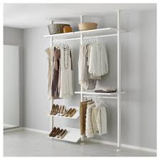 elvarli 2 section shelving unit white clothes rail ceilings