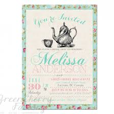 high tea kitchen tea ideas tea party bridal shower invitations which various color