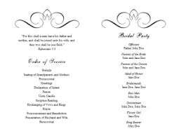 word template for wedding program program template word template business