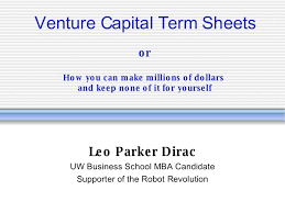 5 minute primer on vc term sheets