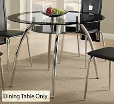 glass and chrome dining table amazon com contemporary dining table w glass table top and chrome