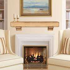 rustic mantels are all the rage