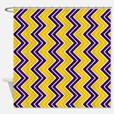 Purple And Gold Shower Curtain Stripes Chevron Purple Shower Curtains Cafepress