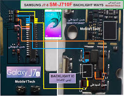 galaxy j7 j710f cell phone screen repair light problem solution