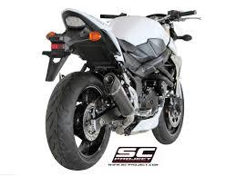 Gsr 750 Suzuki Carbon Conic Exhaust By Sc Project Suzuki Gsr750 2016 S07 34c