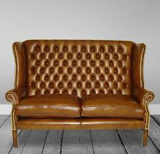 Traditional Sofa  Leather  Seater  Brown YORK Kingsgate - York sofa bed 2