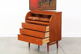 teak roll top desk danish modern teak roll top secretary desk vintage supply store