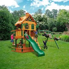 epanse green grass with eciting backyard playsets for enchanting