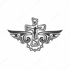 gothic and tattoo marks christian symbols cross and holy spirit