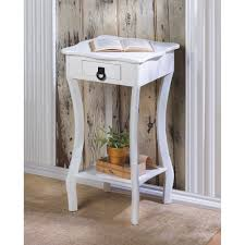 Accent Table With Storage Table Charming Homestead Accent Table Cottage White With Storage