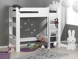 chambre enfant lit superposé lit mezzanine enfant blanc 90x190 mezzanine lits mezzanine
