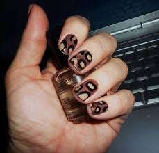 brown nail art with leopard print one1lady com nail nails