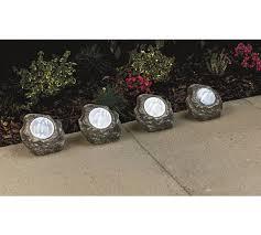buy home set of 4 led solar rock lights white at argos co uk