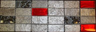 Black Stone Backsplash by Red Backsplash Tile Red Backsplash Tile Kitchen Red And