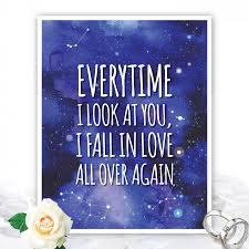 everytime i look at you i fall in love quote love quote