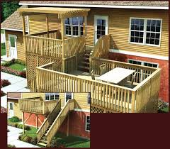 split level front porch designs project plan 90006 modular split level deck