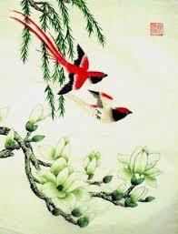 Japanese Flower Artwork - japanese flower painting beautiful art techniques pinterest