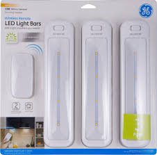 battery operated light bar ge wireless remote led light bars battery operated white 3 pack