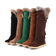 womens winter boots charm foot winter fashion tassels womens low heel