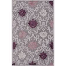 Floral Pattern Rugs Jaipur Rugs Transitional Floral Pattern Gray Purple Rayon And