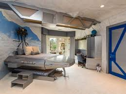 Star Wars Bedroom For Boys With Bunk Bed And Murals Awesome Star - Star wars bunk bed