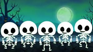Skeletons For Halloween by Five Little Skeleton Scary Nursery Rhyme Video For Children