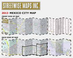 Coyoacan Mexico Map by Streetwise Mexico City Map Laminated City Center Street Map Of