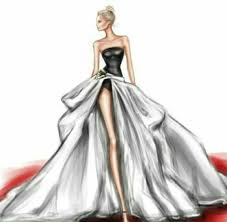 amazing art draw dress fashion wedding wedding dress image