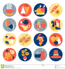 thanksgiving icons stock vector image 58253295