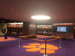 clemson university football locker room clements electrical