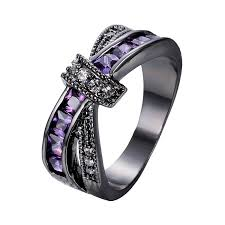 amethyst wedding rings wedding ideas marvelous amethyst diamond wedding ring set image