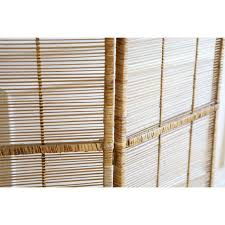 Folding Screen Room Divider Vintage Bamboo U0026 Rattan Folding Screen Room Divider Chairish